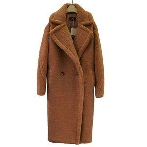 Jackets & Blazers - Faux fur/shearling cocoon oversized teddy coat